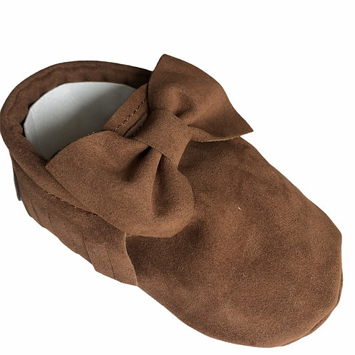 Faux Suede Moccasins Brown