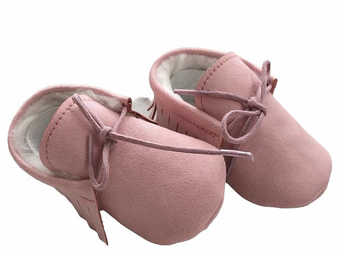 Faux Leather Lined Pink
