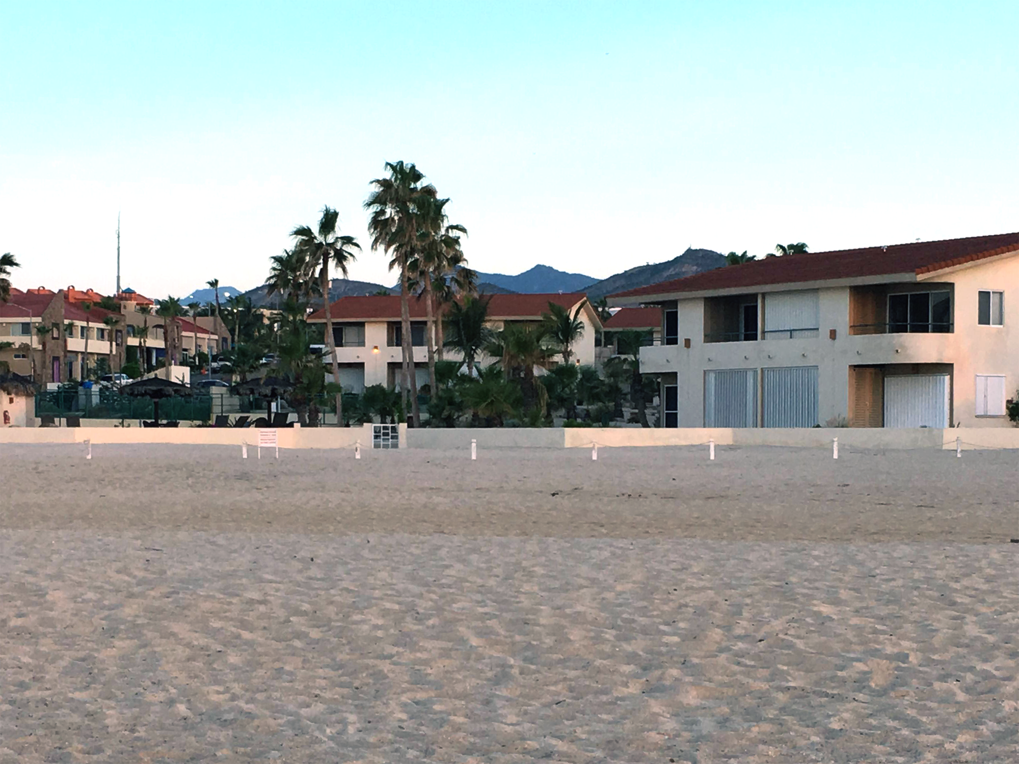 View of condo complex from the beach