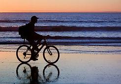 NCBRentals Biking at sunset
