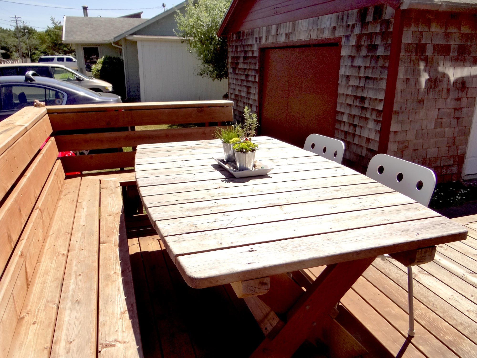 Lily Pad Deck and table