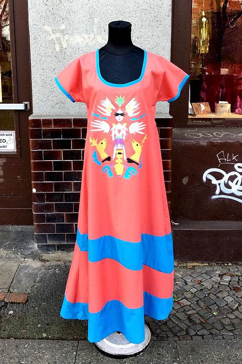 Upcycled Printed Patchwork Dress