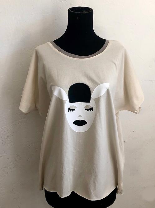 White Sleeping Rabbit Shirt