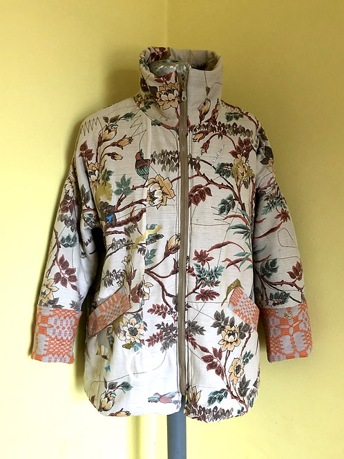 Jacket With Birds And Plants