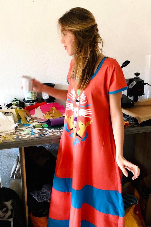 Printed Patchwork Dress