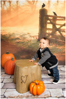 Fall Background w/ Stone Floor
