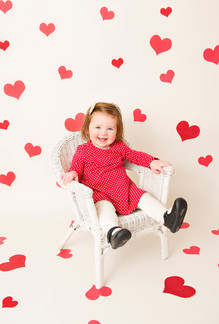 Hearts Background - White