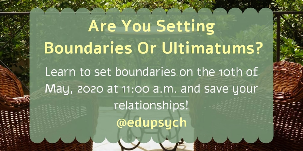 Are You Setting Boundaries or Ultimatums?