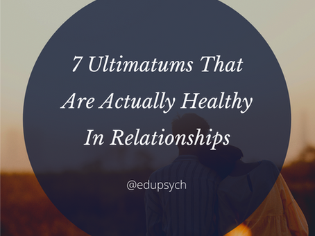 7 Ultimatums That Are Actually Healthy In Relationships!