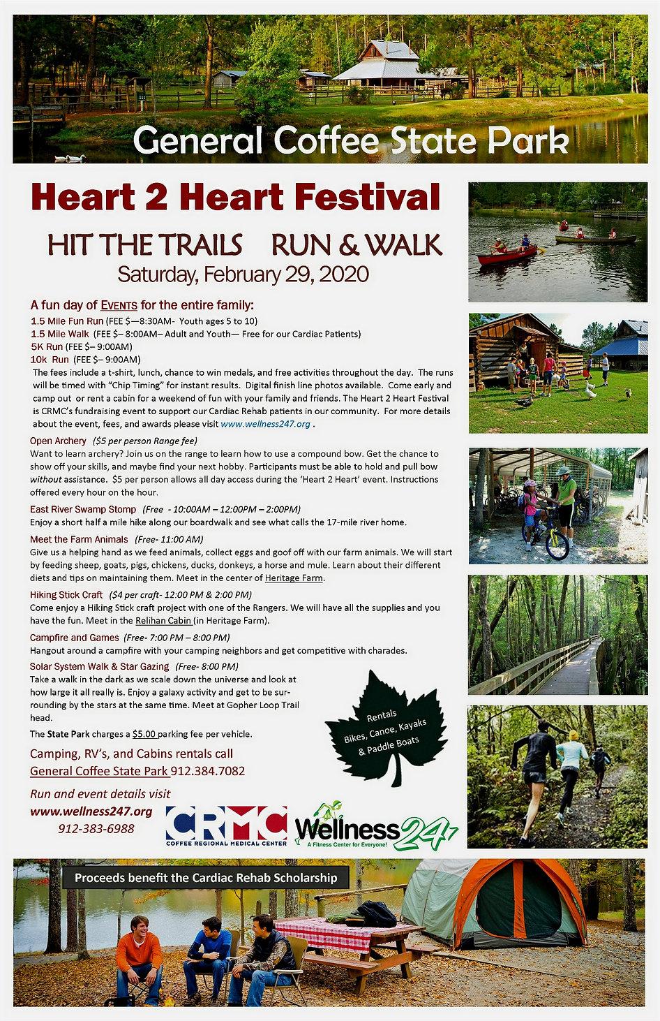 2020 Heart 2 Heart Festival Event Poster