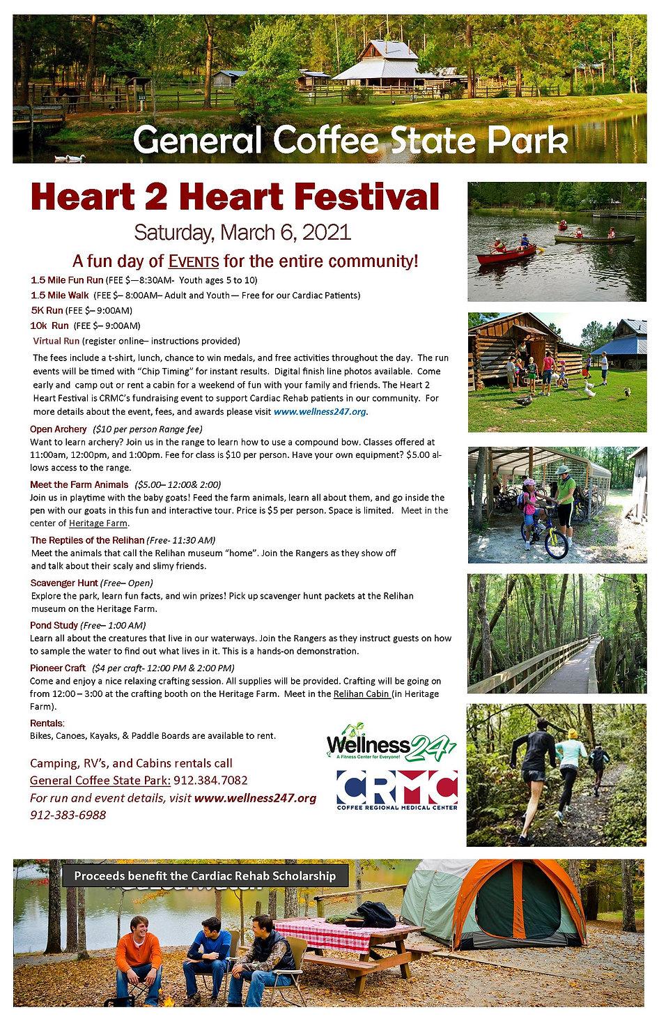 2021 Heart 2 Heart Festival Event Poster
