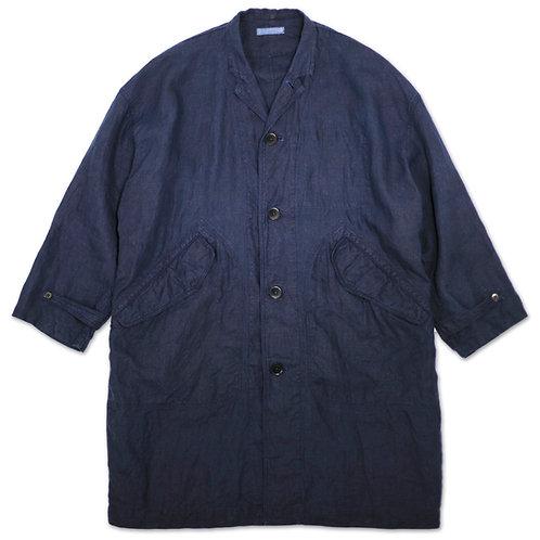 Over size coat dark indigo