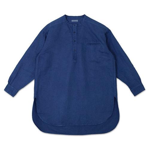 Henley neck shirt indigo