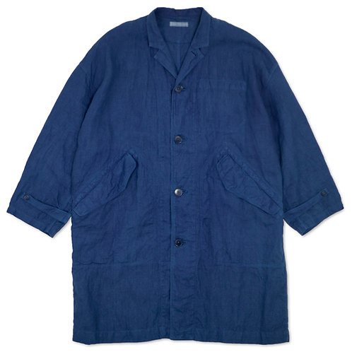 Over size coat indigo