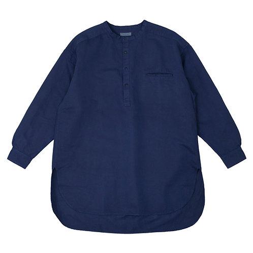 Henley neck shirt dark indigo