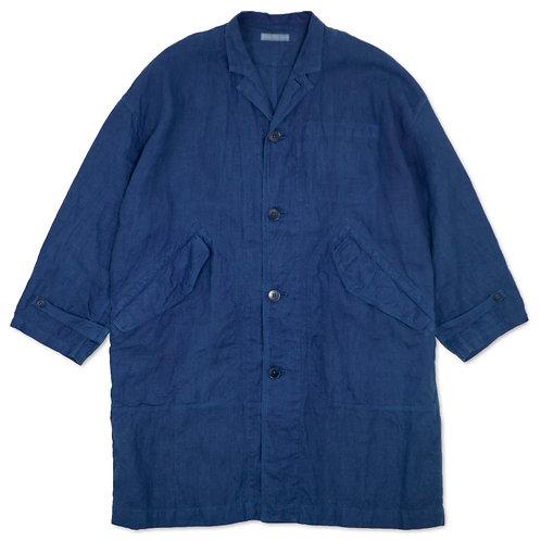 Over size coat indigo