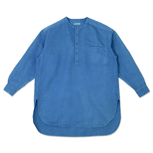 Henley neck shirt light indigo