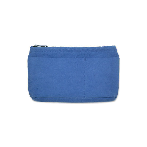 canvas mini pouch light indigo