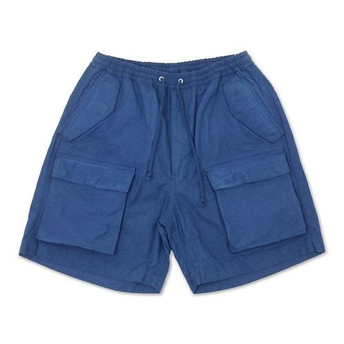 6 pocket cargo short indigo