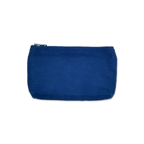 canvas mini pouch indigo
