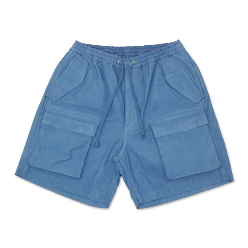 6 pocket cargo short light indigo