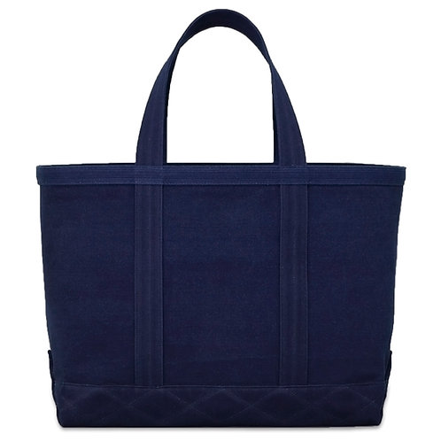 canvas tote bag L all dark indigo