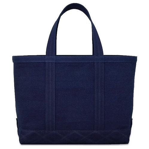 canvas tote bag L all dark indigo