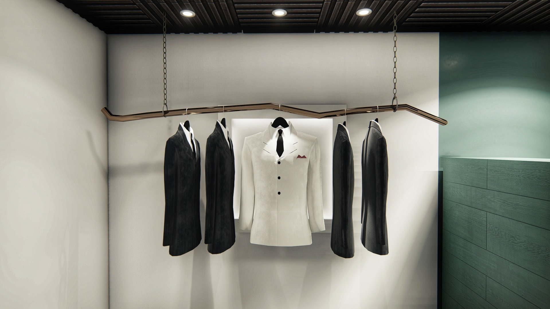 The Retreat Tux/Suit Hanging Station