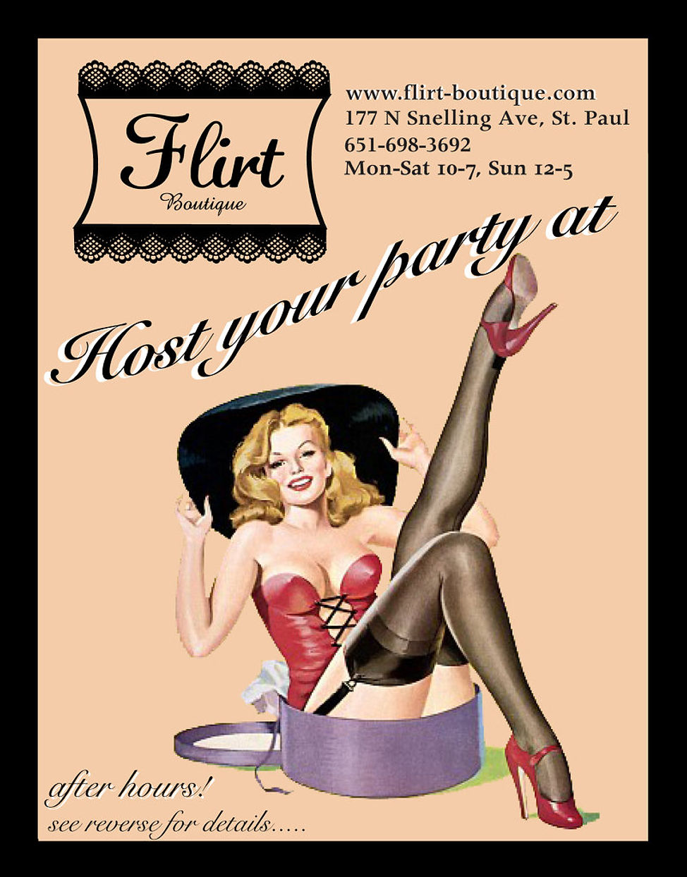 Host Your Party At Flirt