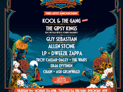 BYRON BAY BLUESFEST Third Artists Announcement for 2020