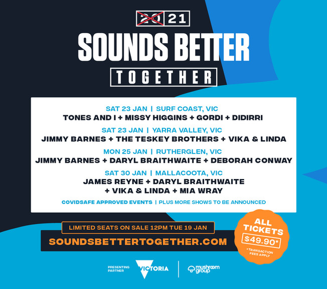 2021 SOUNDS BETTER TOGETHER'–  A celebration of live music in the State of Music