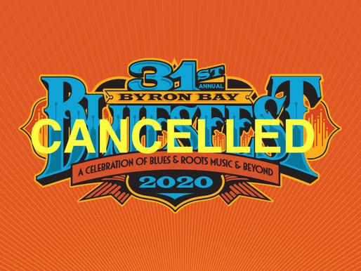 BYRON BAY BLUESFEST IS CANCELLED