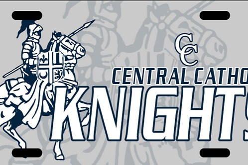 CC Knights License Plate