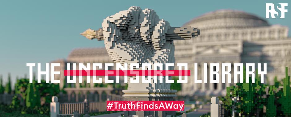 Sananvapaudelle digitaalinen koti: RSF avaa Sensuroimattoman Kirjaston Minecraft-peliin