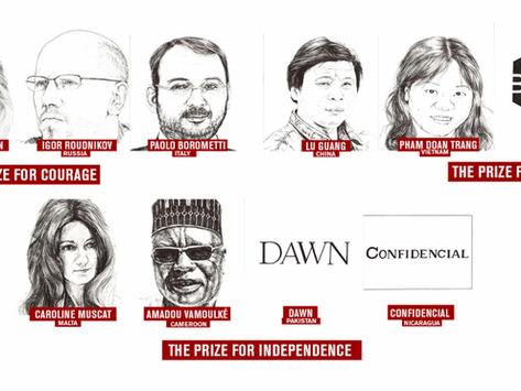 RSF on julkaissut vuoden 2019 Press Freedom Awards –ehdokkaat