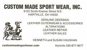 Vaughn's Custom Made Sport Wear Business