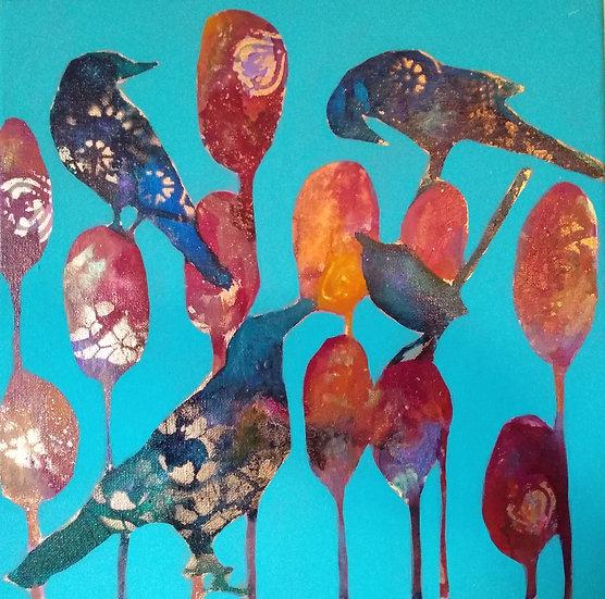 Bird Blooms - the gathering