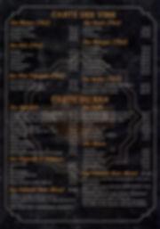 Carte du restaurant Le Jack
