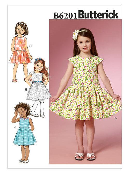 Butterick B6201 Kleid mit geriehenden Rockteil