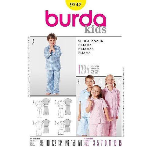 Burda 9747 luftiger Pyjama