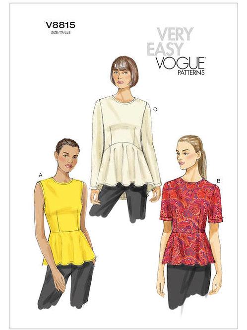 Vogue V8815 Blusenshirt