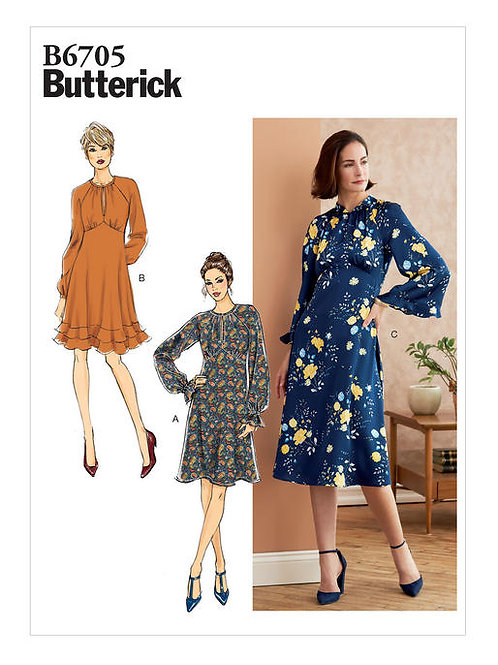 Butterick B6705 Kleid mit Varianten