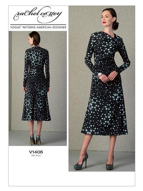 Vogue V1406 gerafftes Taillenkleid by Rachel coMey