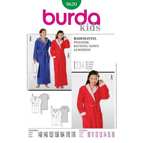Burda 9620  Bademantel für Jungen & Mädchen