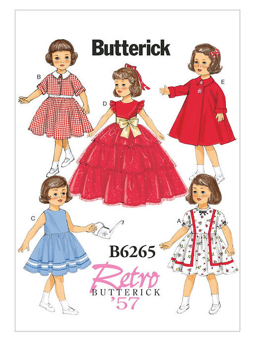 Butterick B6265 Retro Puppenkleidung