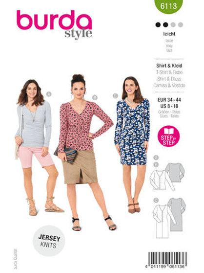 Burda 6113 Shirt/Kleid