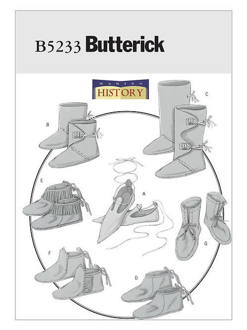Butterick B5233 historische Herrenschuhe