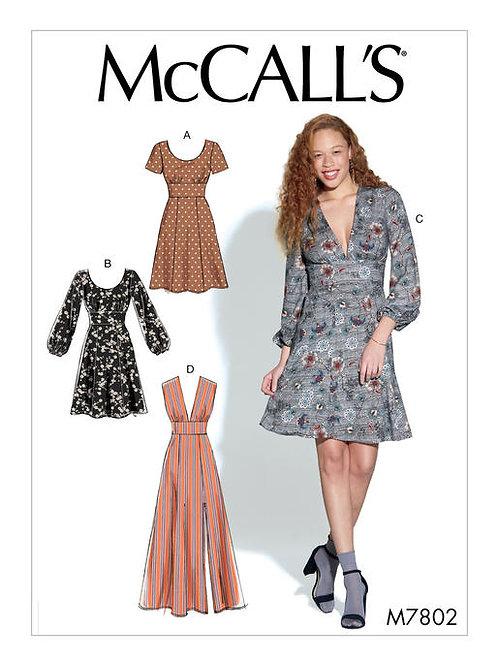 McCall's 7802 Miederkleid mit Varianten