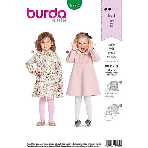 Burda 9332 süßes Kleid mit Empire-Taille