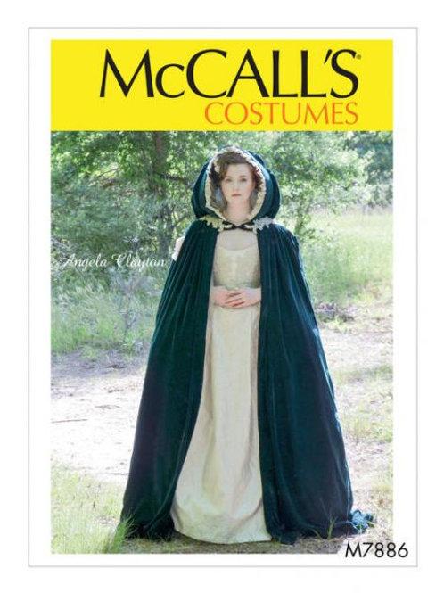McCall`s M7886 Historisches Cape